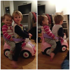 Wij rijden vrolijk het weekend in!